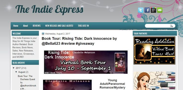 Enter to win the $25 Amazon Gift Card & check out the all new review over at @The Indie Express https://theindieexpress.blogspot.ca/2017/08/book-tour-rising-tide-dark-innocence-by.html?showComment=1501689781003&utm_content=buffer6770d&utm_medium=social&utm_source=pinterest.com&utm_campaign=buffer