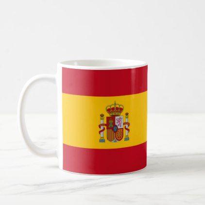 cup Spanish flag - office ideas diy customize special