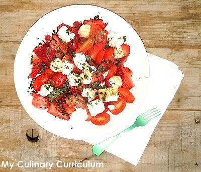 My Culinary Curriculum: Salade de tomates cerise, fraises, feta, mozzarell...