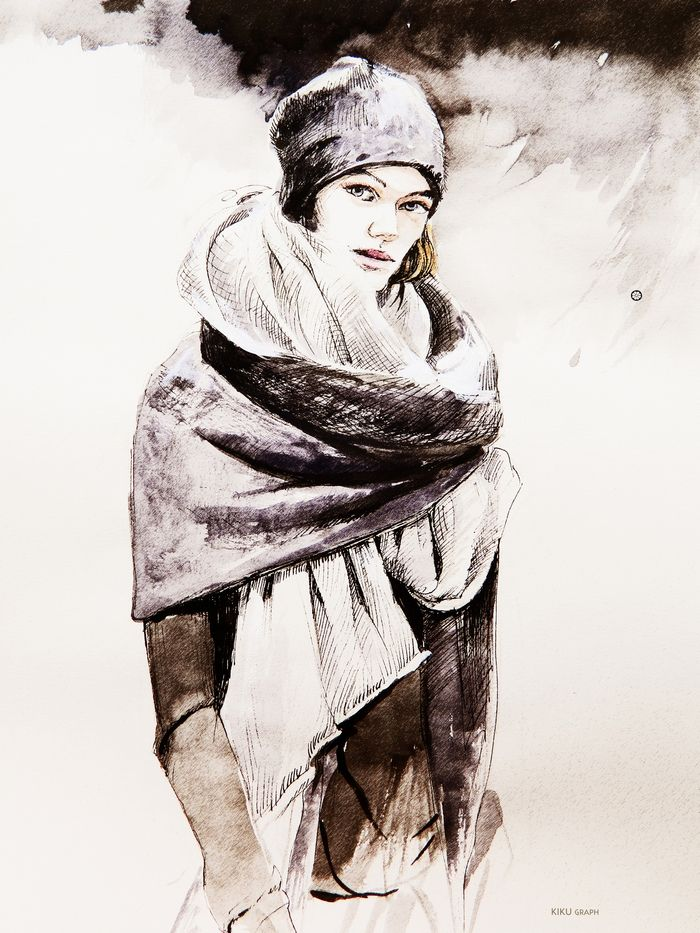 Fashion illustration Daniel Andresen.