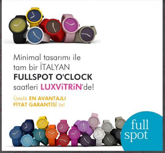 Minimal tasarımlı İtalyan Fullspot saatleri LUXViTRiN'de https://www.luxvitrin.com/marka/fullspot-oclock-saat