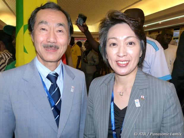 Toshiro Mochizuki, ancien ambassadeur du Japon en Grèce avec  l'olympienne et membre du parlement Seiko Hashimoto. # CISA #  Convention #