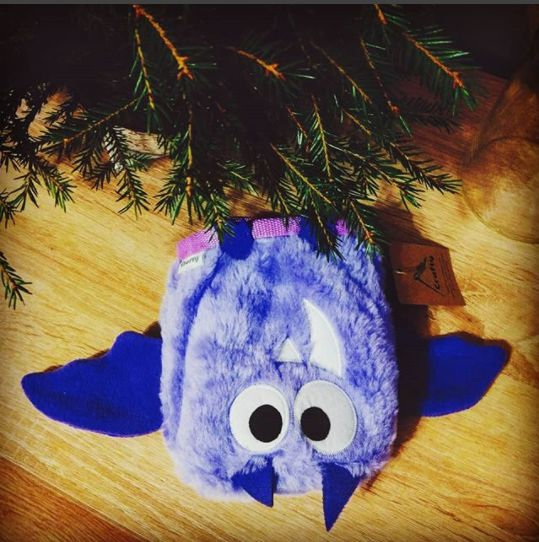 Violet Chalk Bag found under Christmas Tree by Crafty Climbing