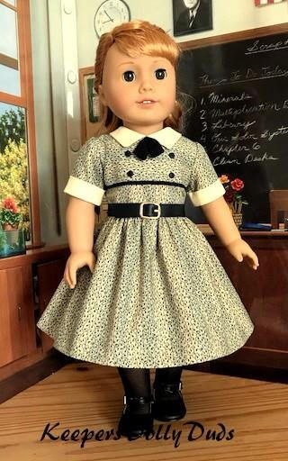 "1950s Inspired Frock ~ for 18"" American Girl Dolls, A KeepersDollyDuds Original Design $74.49 SOLD 2/27/18"