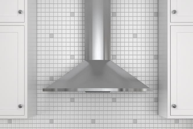 Zephyr ZSAE30CS 30 Inch Wall Mount Chimney Range Hood with 685 CFM Internal Blower, 6 Sones, Vertical Ducting and Convertible to Recirculating: Stainless Steel