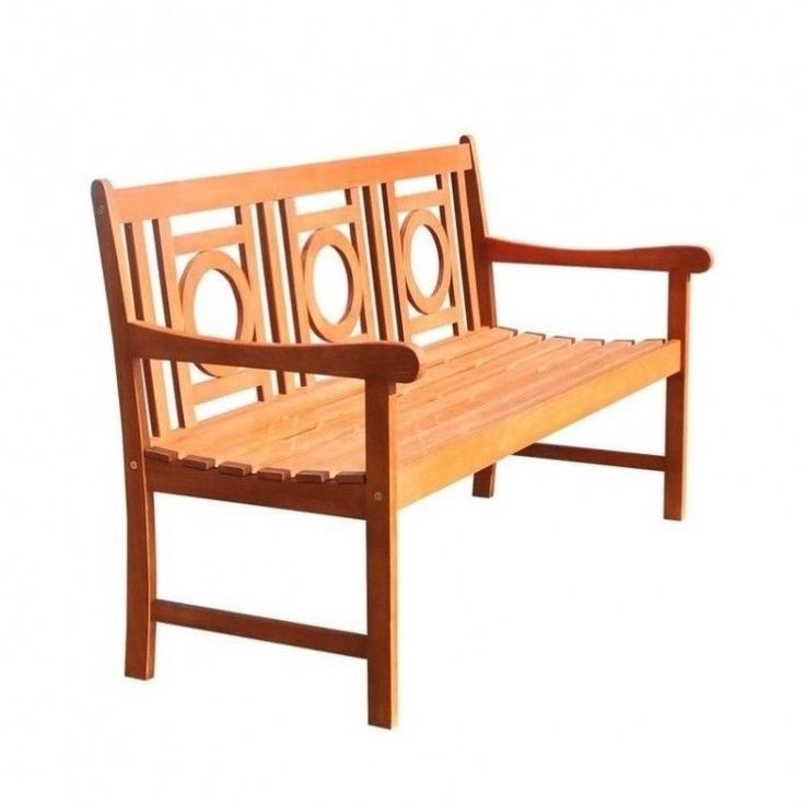 Outdoors Garden Bench 5 Foot Wood Patio Furniture Porch Arms Weather Resistant #OutdoorsGardenBench