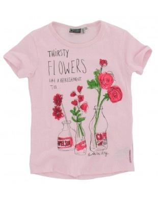 Tumble n Dry - T-shirt Flowers roze €21,95