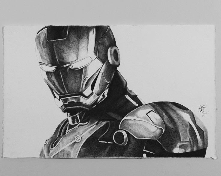A Sketch of Iron Man on 640 gsm Arches Medium Cold Press Paper Artist- @brendenjamesmcdonough