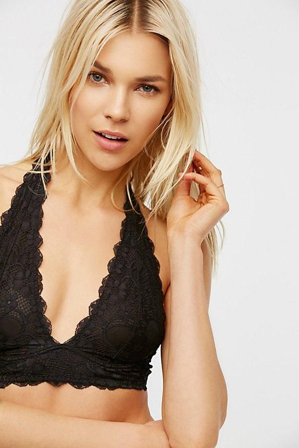 a5d9bcc40311f Free People Galloon Lace Halter - Black