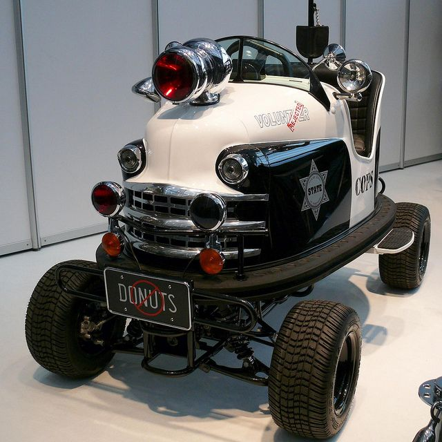 Bumper Car / Lusse Auto-Scooter 1953 Police car vl - Tom Wright