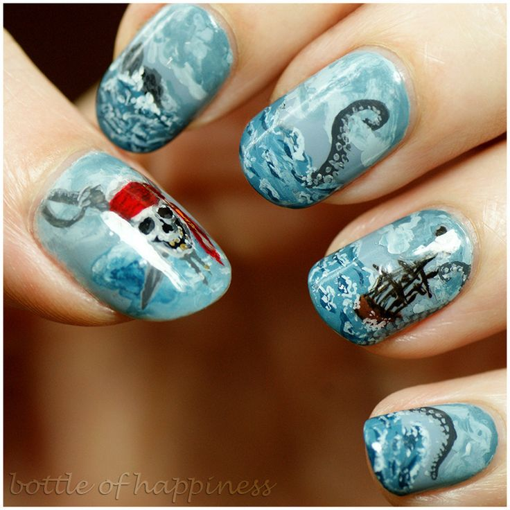 Pirates of the Caribbean nail art by Kasia (hatsu hinoiri)