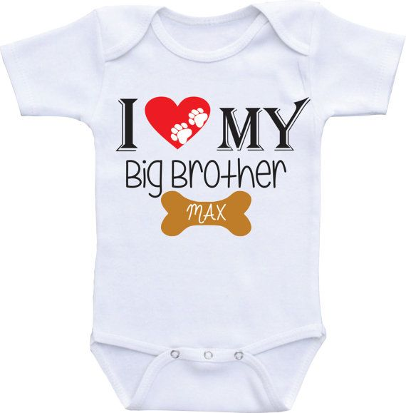 I love my Dog Shirt Big Brother Dog Onesie by DAIICHIBANdesigns