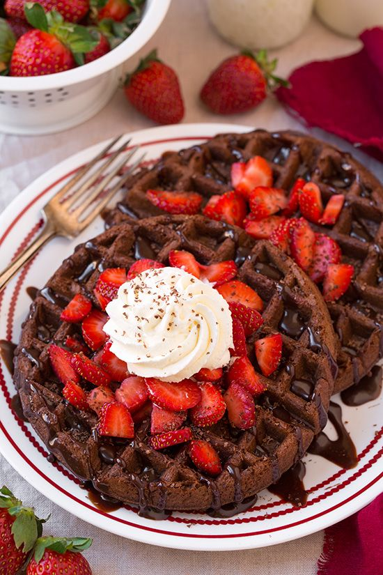 Start your morning with delicious Chocolate Cake Waffles.
