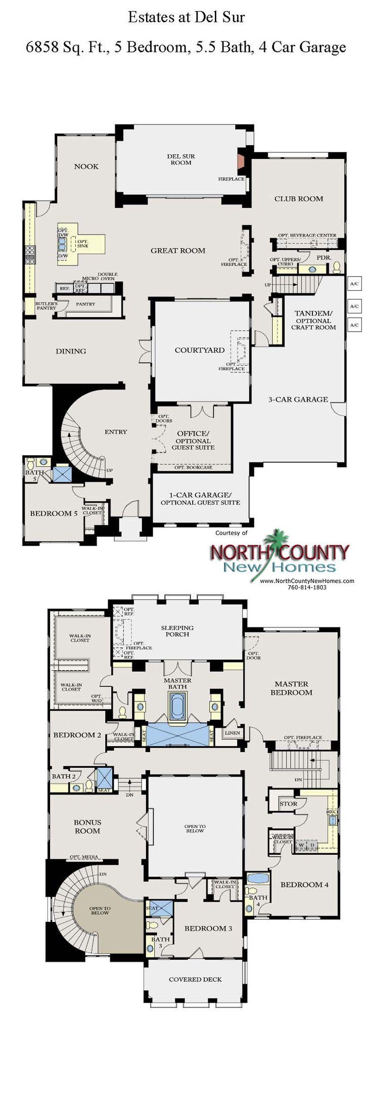 1152 best house plans images on pinterest house floor plans the estates at del sur floor plans san diego new homes