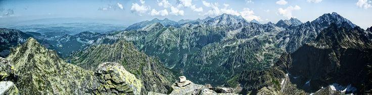 Tatry - górska panorama  zdjęcia panoramiczne, panoramic photography, krajobrazy górskie,  #zdjęcia #panoramiczne #panoramic #photography #landscapes #Poland #Polska #krajobrazy #góry #Mountains #Tatry #BabiaGóra