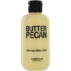 Hempz Treats Delicious Body Lotion, Butter Pecan, 8.5 Ounce by HEMPZ. Save 26 Off!. $10.37. A gourmet blend of natural honey and vanilla extracts; Helps provide dramatic long-term moisturization; skin conditioners for deliciously soft and smooth skin. This delicious daily moisturizer helps provide dramatic long-term moisturization while leaving your skin feeling absolutely yummy.