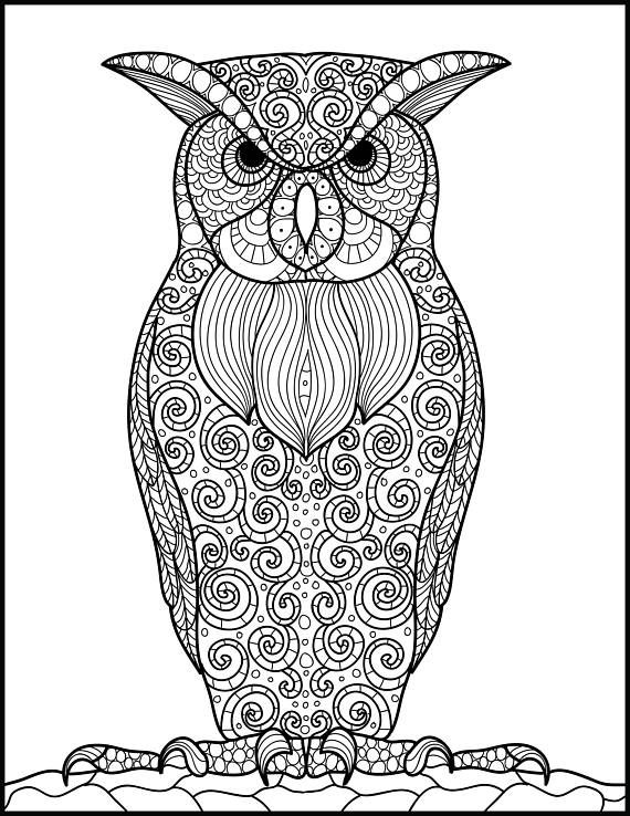 The 25 Best Owl Coloring Pages Ideas On Pinterest