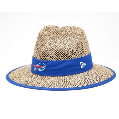 NFL Buffalo Bills Training Camp Straw Hat, Tan, One Size Fits All by New Era. $15.74. New Era® Engineered Their Training Camp Collection For NFL Athletes And Coaches, They Provide Temperature Regulation And Sun Protection. The Straw Has A Cloth Band With The Team'S Logo Embroidered On The Front, Stitched New Era® Flag At Wearer'S Left Side, And The NFL Shield On The Back.. Save 42% Off!