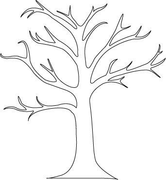 Great tree outline for preschool activity had kids color for Preschool family tree template