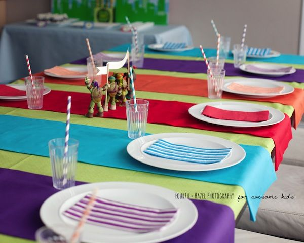 Teenage Mutant Ninja Turtle themed birthday party planning ideas via Karas Party Ideas | KarasPartyIdeas.com