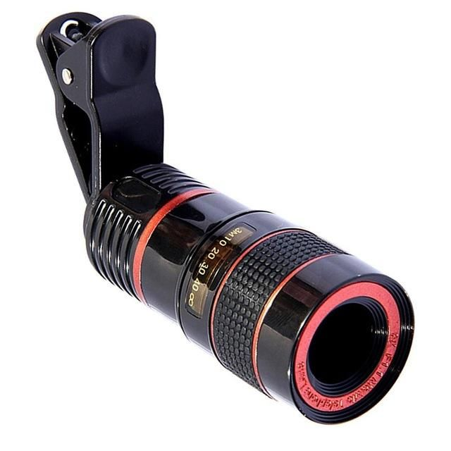 Clip On Cell Phone Zoom Lens