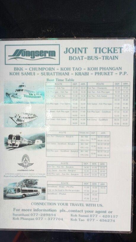 Songsern timetable