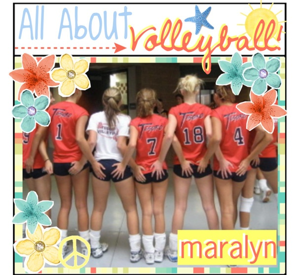 """""""All About Volleyball!"""" by just-girly-tips ❤ liked on Polyvore"""
