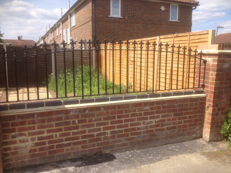 RSG4200 railings fitted to a residential property in London.