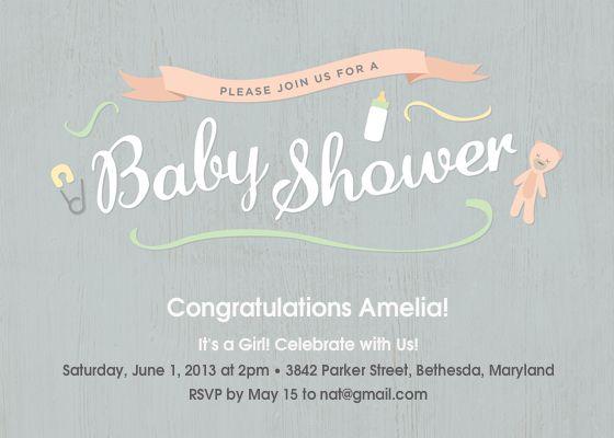 26 best Baby shower Einvitations images on Pinterest Shower ideas
