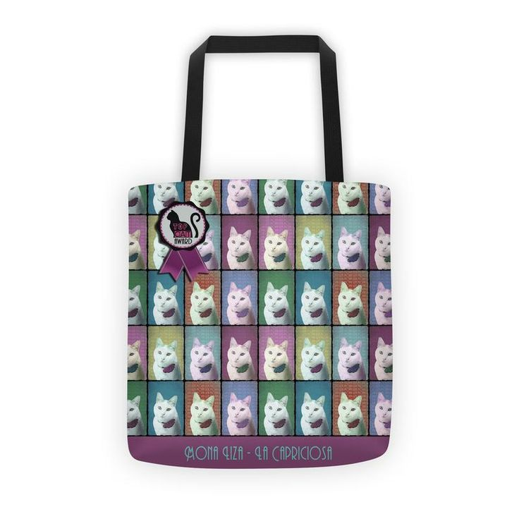 All-Over Printed Tote With Your Pet Photo and Design 1 PopArt Style