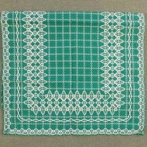 Groen tafellopertje Beiers Bont. #vintage #retro #handwerken