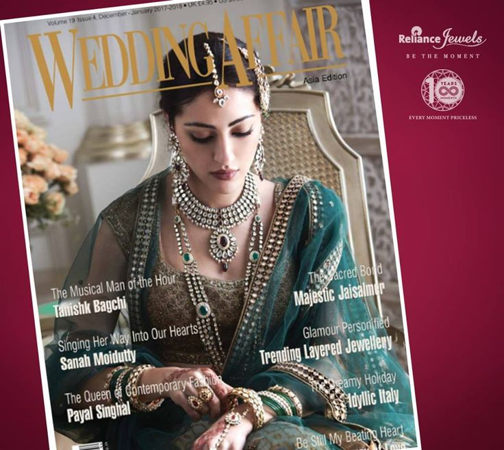 Wedding Affair Asia Edition featured Reliance Jewels with  our most vibrating & ravishing kundan jewellery.