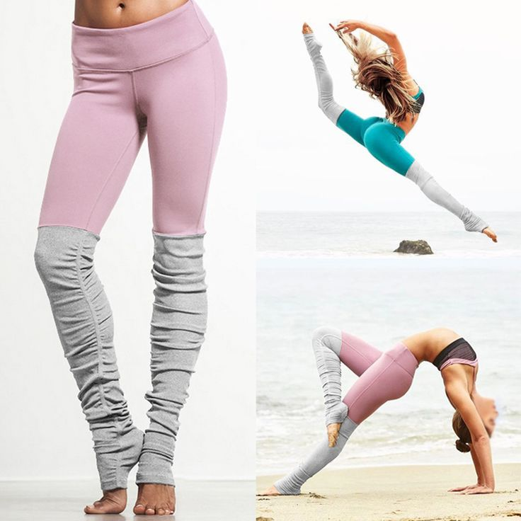 6 colors Women Sports Elastic Rib Patchwork Bodybuilding Yoga Pants High Elastic women Leggings S M L XL 4sizes