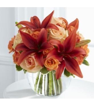 Orange Asiatic Lilies Amp Magenta Roses Wedding Ideas