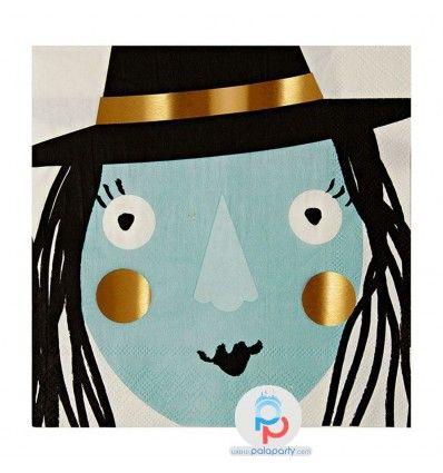 Festa Halloween tovaglioli strega e tanti altri prodotti per  festa, decorazioni, palloncini, novità, esclusive. Su PalaParty offerte online e consegna 48h vere