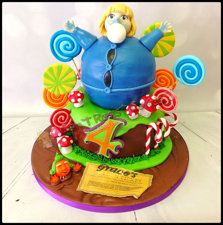 Charlie and The Chocolate Factory birthday cake for girls or boys