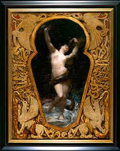 Victor Prouvé (1858-1943) - Salammbo. Oil on Canvas in Carved & Gilt Wood Frame. Nancy, France. Circa 1881.