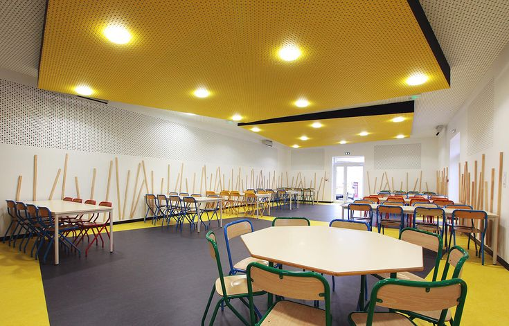 In Tempo agency Interior Design project School canteen   Acoustic