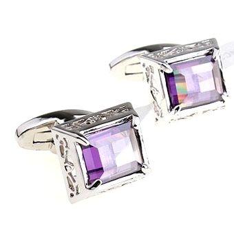 Deks Bros Purple Zirconia Square Kol Düğmesi-Taşlı Kol Düğmeleri-DEKS BROS-DEKS BROS PURPLE ZIRCONIA SQUARE KOL DÜĞMESİ-Taşlı Kol Düğmeleri-DEKS BROS-Kol Düğmesi, Kravat, Gömlek, hediye ve tüm aksesuar çeşitleri