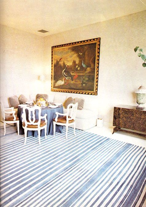 1973 dining room via billy baldwin remembers us greats for Billy baldwin interior designer