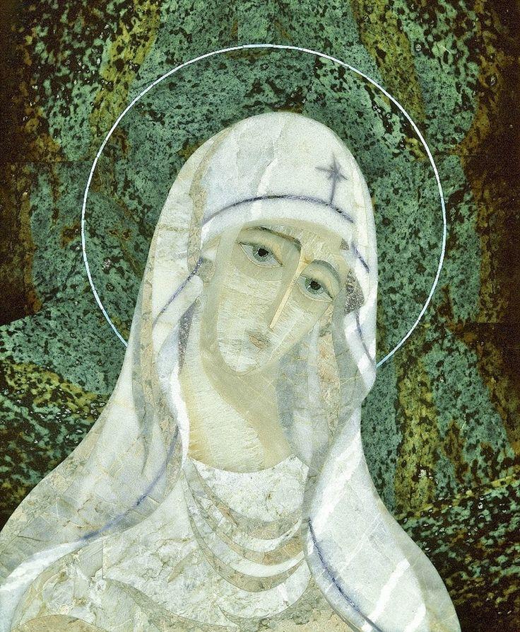 """Флорентийская и римская мозаика - только камень...: """"Богоматерь"""" флорентийская мозаика в Ватикане:серп..."""