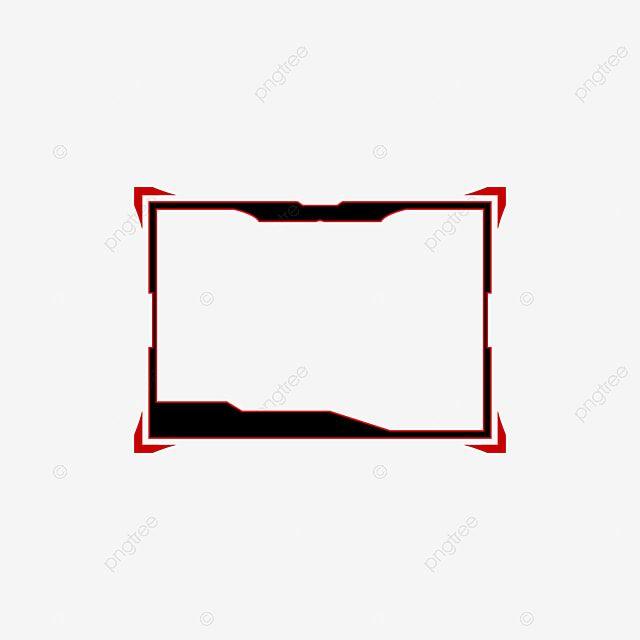 Czarna Nakladka Na Szablon Facecam Do Transmisji Na Zywo Z Gier Czarny Skurcz Narzuta Png I Wektor Do Pobrania Za Darmo Template Design Overlays Overlays Transparent