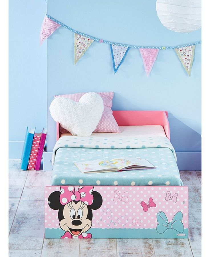 This Minnie Mouse Toddler Bed Is Ideal For The Transition From A Cot To Big And Includes Deluxe Foam Mattress Plus Free UK Delivery