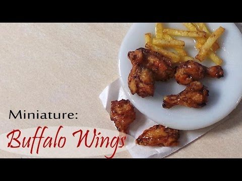Miniature Buffalo Wings & Fries - Polymer Clay Tutorial - YouTube