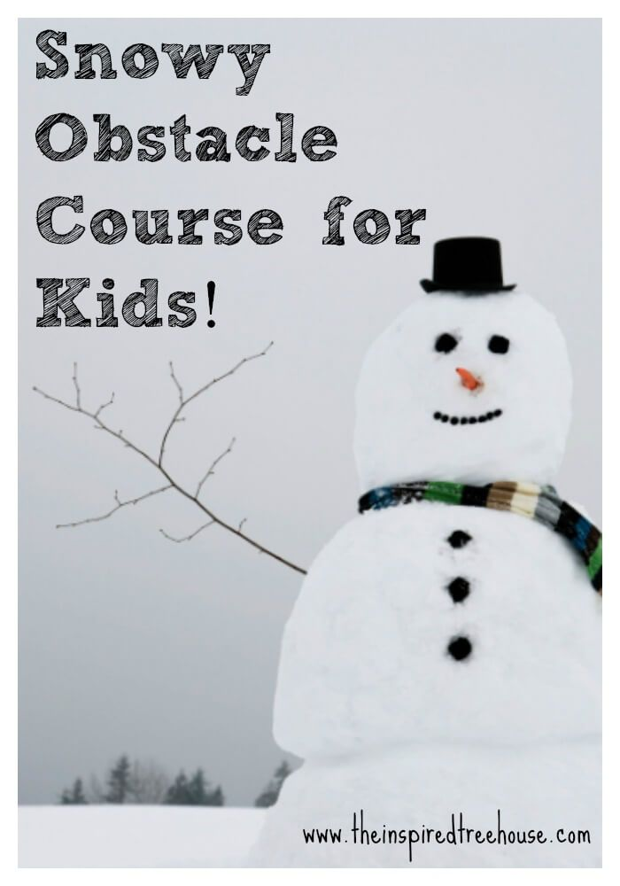 The blizzard outside my window today inspired me to create this winter-themed obstacle course for kids. No snow? Don't worry! This activity is for you too!