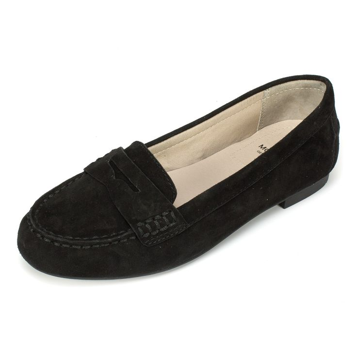 White Mountain Shoes Markos Black Suede Moccasin