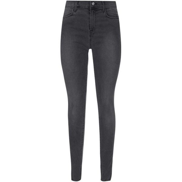 J Brand Maria High-Rise Photo Ready Skinny Jeans (390 AUD) ❤ liked on Polyvore featuring jeans, j brand jeans, stretch skinny jeans, skinny jeans, denim skinny jeans and skinny fit jeans