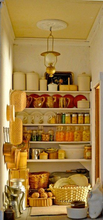 Miniature dollhouse pantry