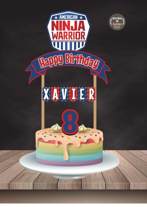 American Ninja Warrior Cake Topper American Ninja Warrior Birthday