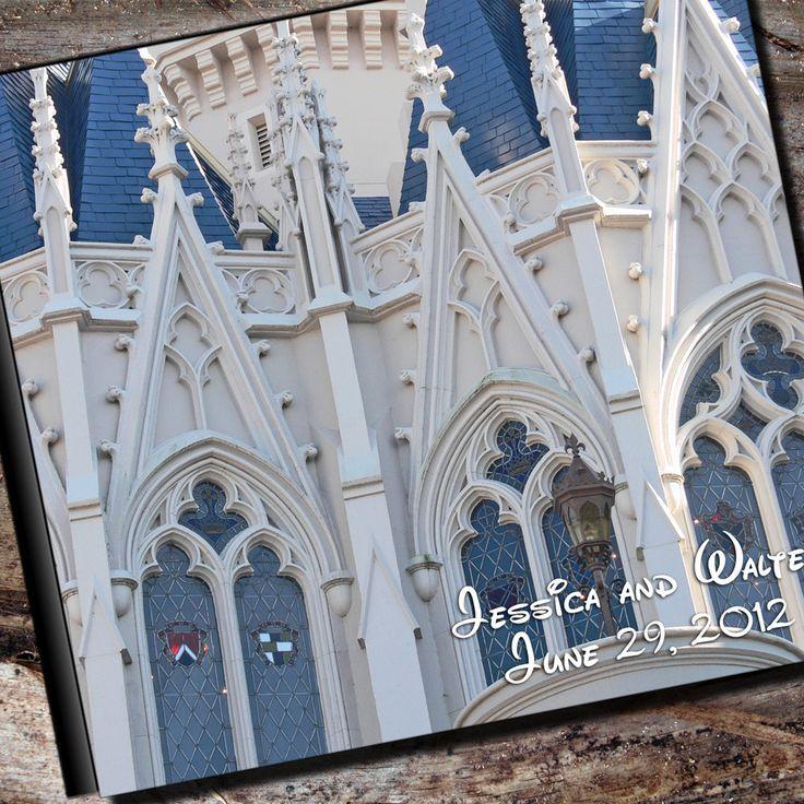 Disney Wedding Album, Personalized Photo Album, Scrapbook or Guest Book. $55.95, via Etsy.